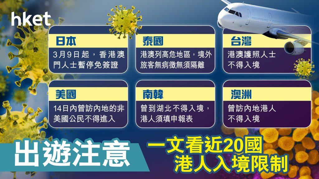 泰國入境未強制隔離 各國會否限制香港人入境 一文看清台美澳意日韓菲紐近20國對華限制 第十四版 Hkd4